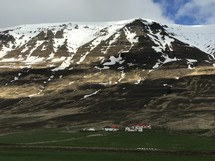 small valley town in Iceland