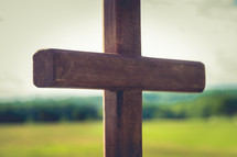 wooden cross outdoors