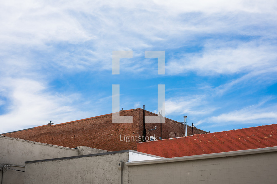 roof of a brick building
