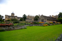floral gardens surrounding Oxford