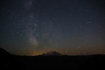 Night sky full of bright stars.