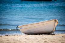 rowboat on a shore
