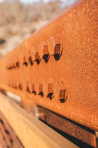 metal beam and bolts