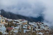 homes on a mountainside