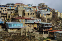 houses built into a mountainside. Old native culture. Unreached people groups