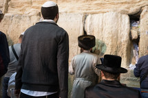 prayers at the wall in Jerusalem