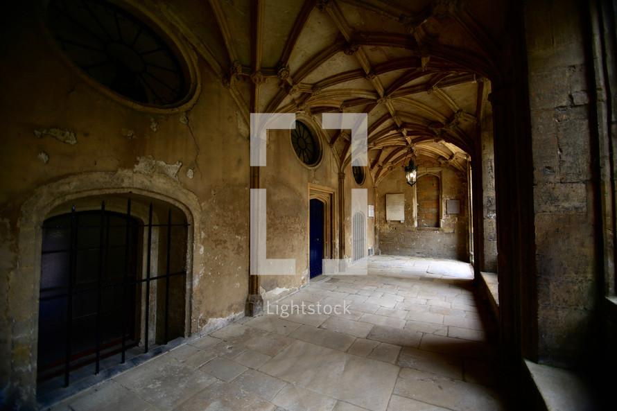vaulted hallway in Oxford