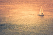 yacht sailboat on the ocean