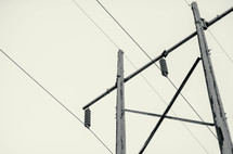 power lines and transformers