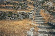 stone steps up a mountainside