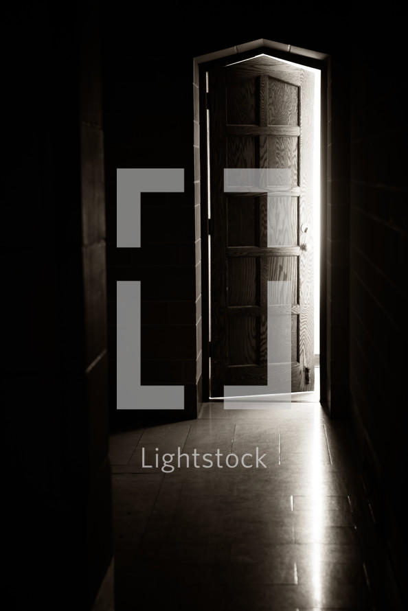 light from a cracked door