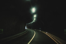 a dark highway tunnel
