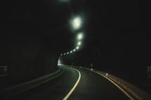 a dark highway tunnel