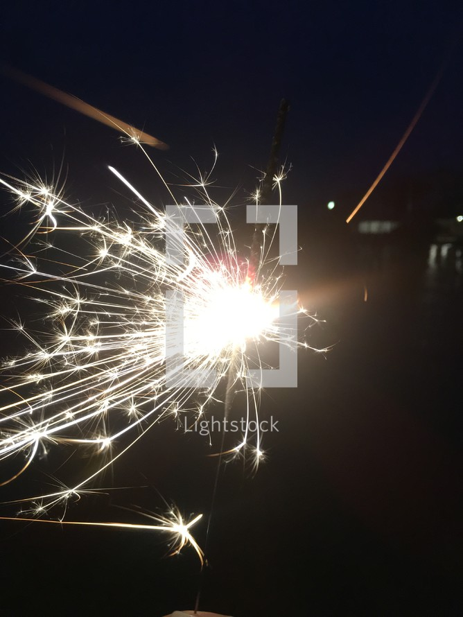 Sparks from a sparklers
