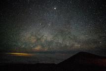 stars in the night sky above Mauna Kea