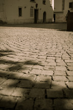 An old paved courtyard.