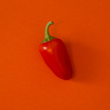 red pepper on red
