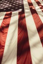 Shadows on an American Flag