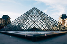 glass pyramid in Paris