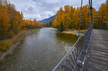 a bridge over a fall river