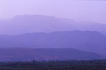purple mountains at sunset