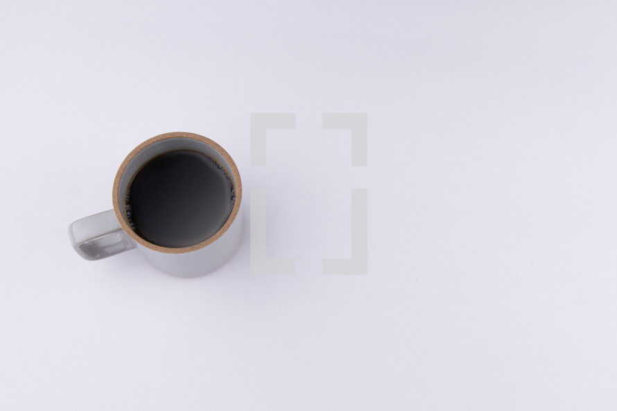 coffee mug on a white background