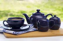 Tea Set with a Hot Drink