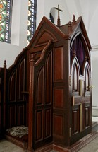 Catholic confessional booth