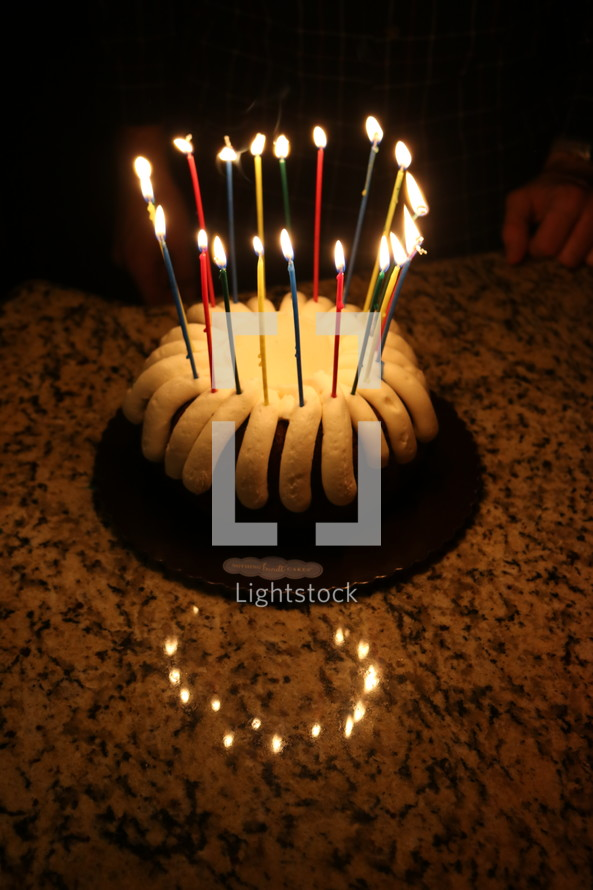 birthday candles in a cake