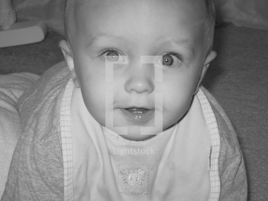 face of an infant boy