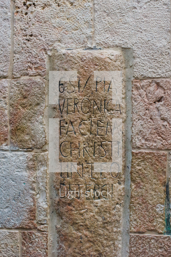 engraved sign in stone