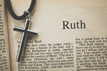 Ruth and a cross necklace