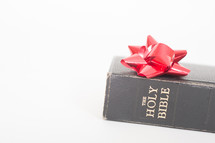 Holy Bible and Christmas bow