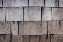 Wooden shingles.