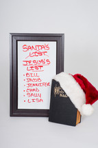 Santa's List becomes Jesus's List