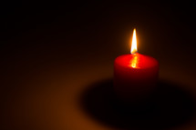 flame on a candle