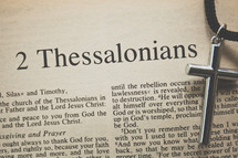 2 Thessalonians and a cross necklace