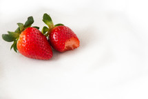 bite out of a strawberry
