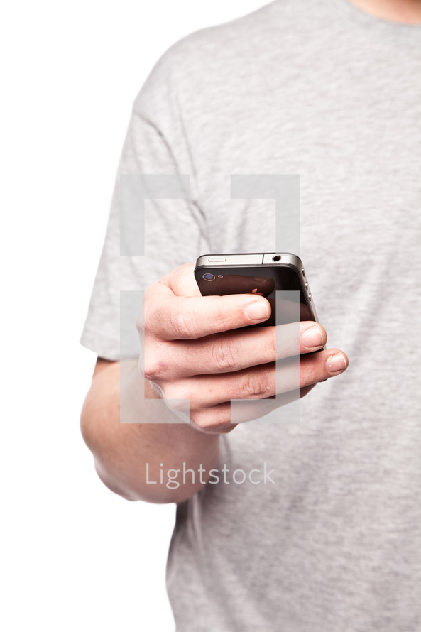 man holding a cellphone