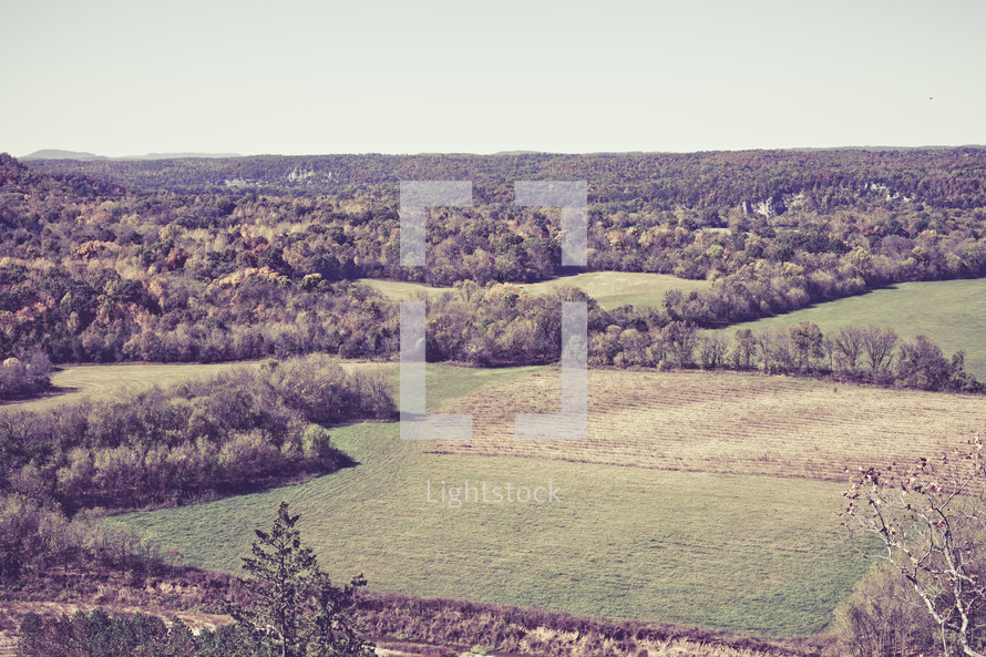 high view of ozark mountain valley