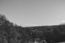 View from Tucking Mill Viaduct, Black & White