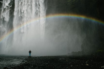 rainbow over a waterfall