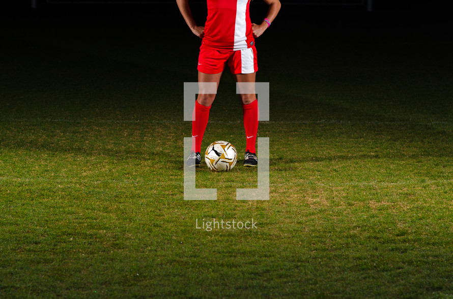 soccer player on a field