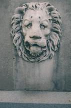 Stone lion sculpture.