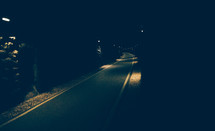 lights in a road Tunnel