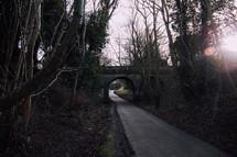 road through a bridge tunnel
