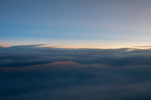 Layers of clouds in the sky.