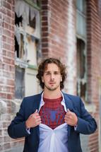 undercover super hero - spiderman