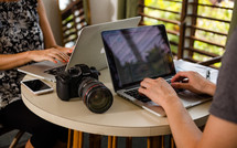 camera and laptops
