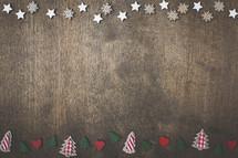 Christmas trees and stars border